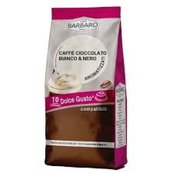 20 Capsule Caffè all Cioccolato Bianco e Nero Comp.Dolce Gusto
