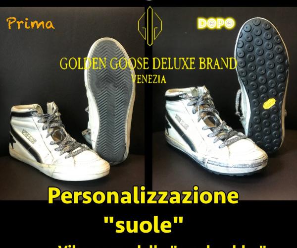 GGDB - Golden Goose - risuolatura con Vibram NewBoulder nere