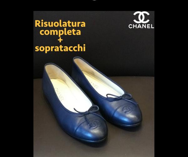 Ballerine Chanel - Risuolatura completa con modello suola CALIFORNIA nera