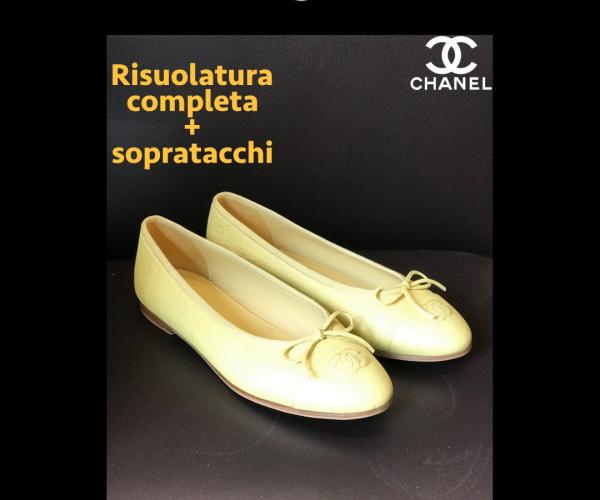 Ballerine Chanel - Risuolatura completa con modello suola CALIFORNIA chiara