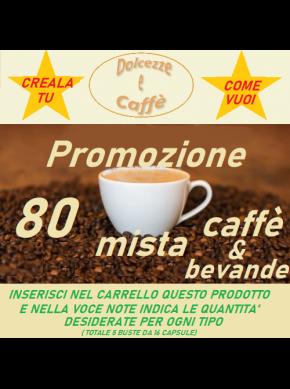 PROMO MISTA CAFFE' e BEVANDE COMPATIBILI DOLCE GUSTO conf 80 CPS