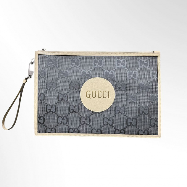 GUCCI Off the Grid Leather-Trimmed Monogrammed ECONYL Canvas Pouch_1