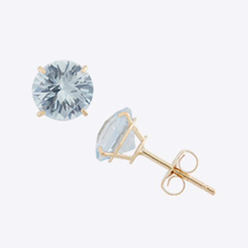 <br /> 6-mm Round Birthstone Stud Earrings_1