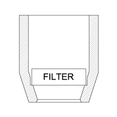 TYPE TPF - NARROW-NECKED SLEEVES WITH FILTER HOLDER