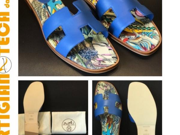 Sandali Hermès con modello suola SILK crema