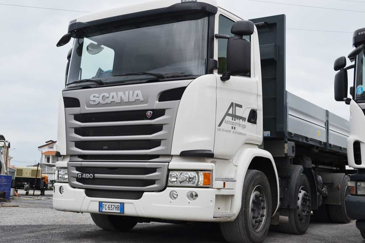 CAMION A 4 ASSI CON GRU