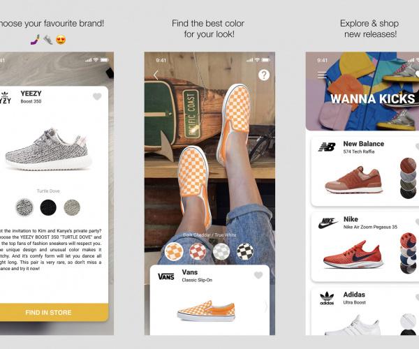L'app per provare le scarpe in realtà aumentata