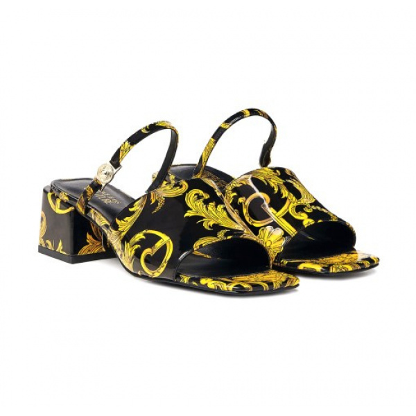 SABOT CON STAMPA LOGO BAROQUE – VERSACE JEANS COUTURE