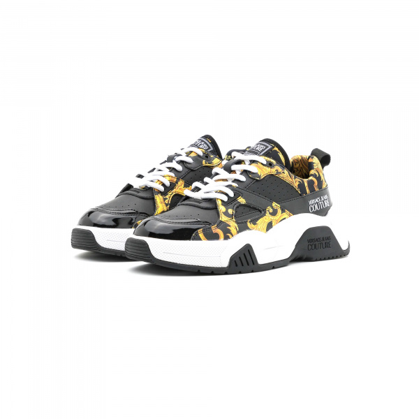 SNEAKERS STARGAZE STAMPA LOGO BAROQUE NERA – VERSACE JEANS COUTURE