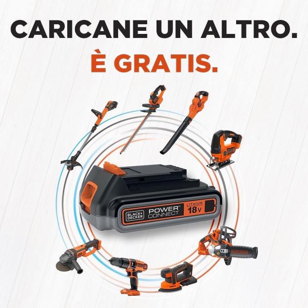 Acquista un elettroutensile a batteria 18V POWERCONNECT e ricevi un regalo a tua scelta tra i prodotti selezionati (1 batteria 18V o 1 elettroutensile senza batteria tra quelli indicati) offerta valida fino al 30/06/21!!!