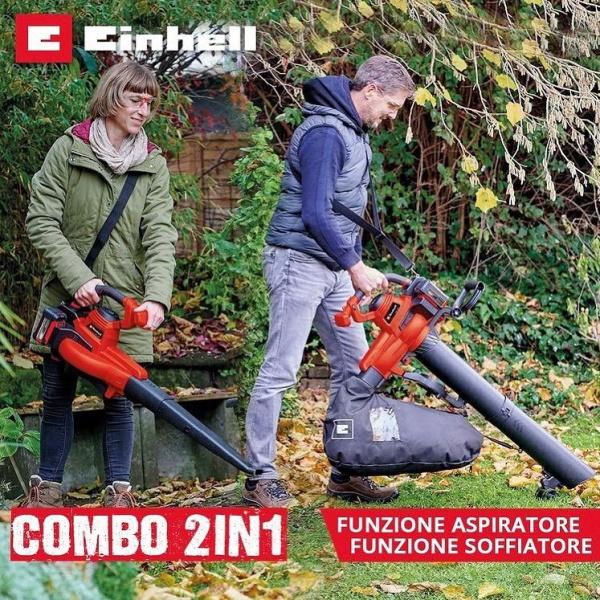 Lo puoi usare sia come soffiatore che come aspiratore, una combo perfetta per tenere sempre in ordine e puliti gli spazi verdi di casa tua!