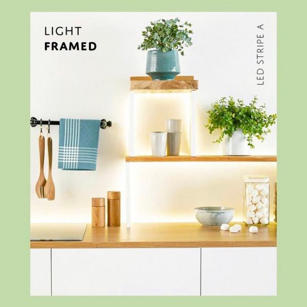 STRISCE LED un filo continuo di luce, per illuminare gli angoli e gli oggetti che più ti piacciono. Vieni in negozio per scoprire quante soluzioni puoi creare