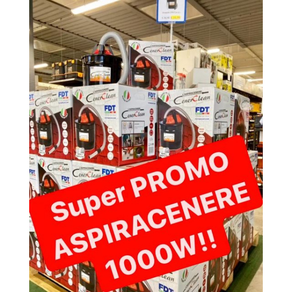 SUPER PROMO Aspiracenere elettrico 18LT 1000Watt!!! ...piccolo, maneggevole e POTENTE…ad un prezzo incredibile! Vieni in negozio a vederlo e provarlo tu stesso