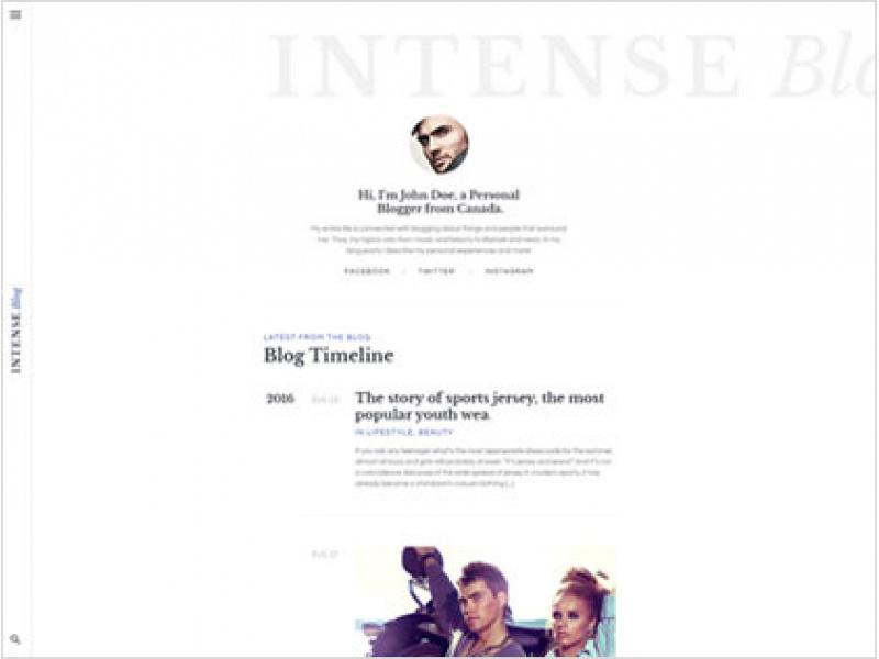 Intense Personal Blog