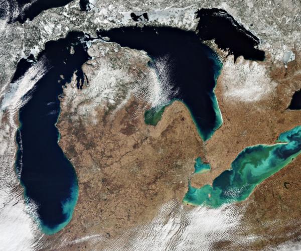 La regione dei Grandi laghi vista dallo spazio