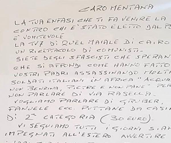 Lettera a Mentana, neanche le minacce riescono più a smuovere le coscienze