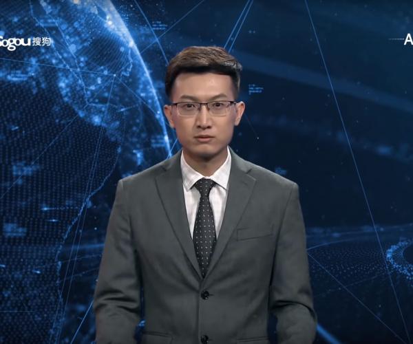 L'inquietante annunciatore di notizie digitale dell'agenzia di stato cinese
