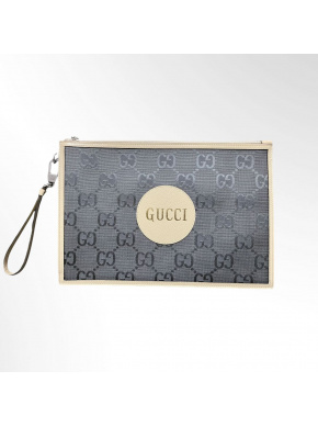 GUCCI Off the Grid Leather-Trimmed Monogrammed ECONYL Canvas Pouch