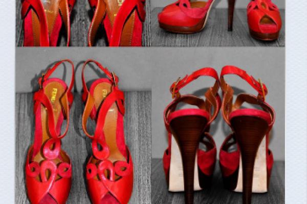 FENDI: inserimento elastici a tallone per permettere una migliore calzata al piede della nostra amica