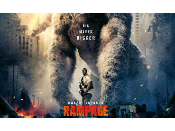 Rampage, il nuovo trailer del film con The Rock che combatte mostri