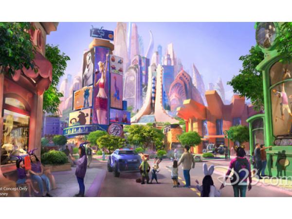 La città di Zootropolis diventa realtà in un parco Disney
