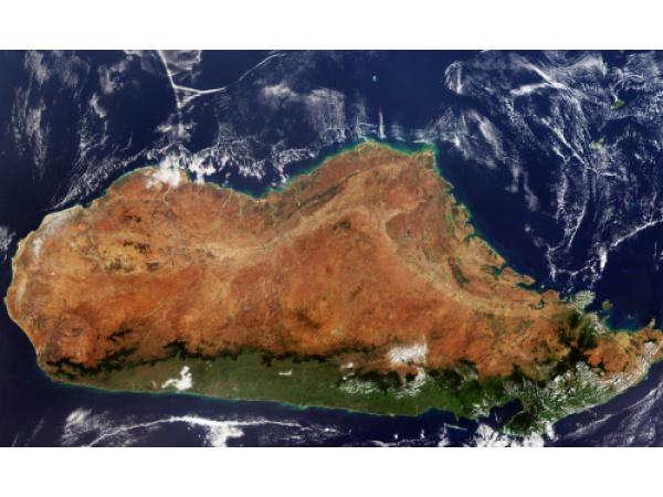 Com'è il Madagascar visto dallo Spazio