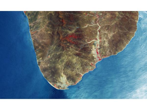 Le spiagge di Los Cabos, in Messico, viste dallo spazio
